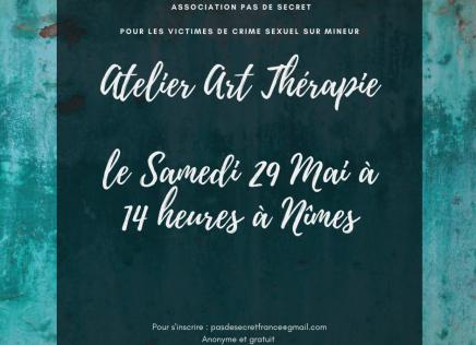 Atelier Art Thérapie le Samedi 29 Mai à 14 heures